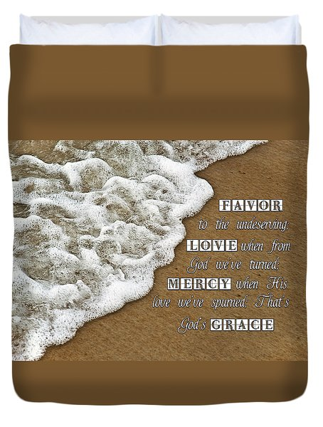 Tide Of Encouragement Duvet Cover by Carolyn Marshall
