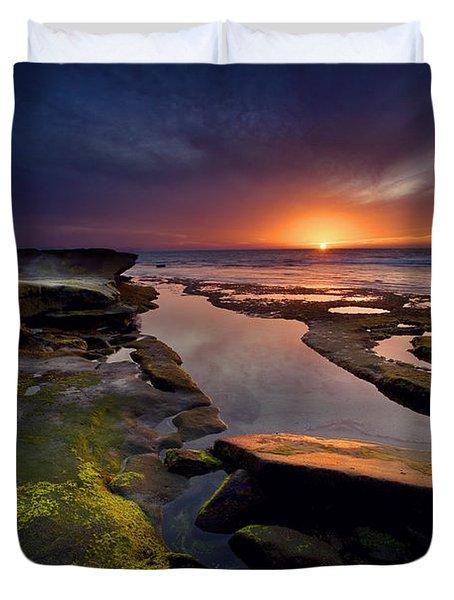 Tidepool Sunsets Duvet Cover