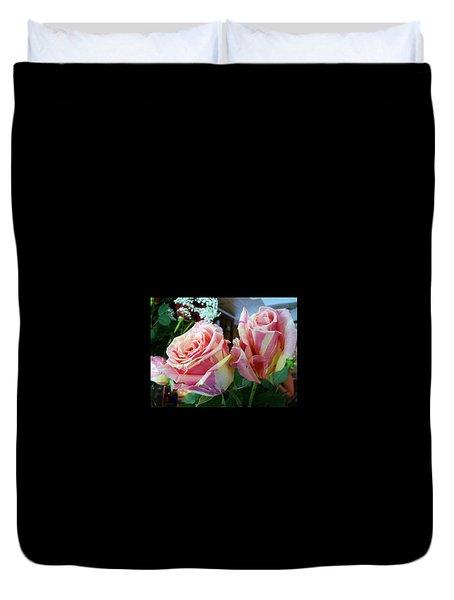 Tie Dye Roses Duvet Cover