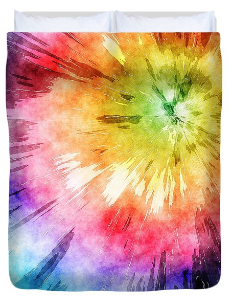 Tie Dye Watercolor Duvet Cover