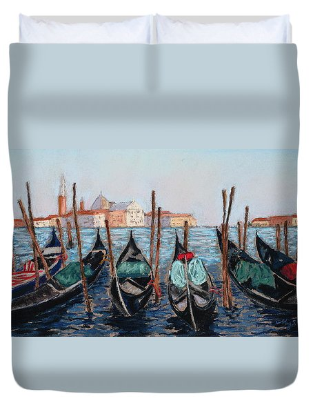 Tied Up In Venice Duvet Cover