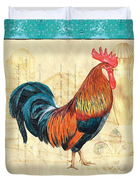 Tiffany Rooster 1 Duvet Cover by Debbie DeWitt