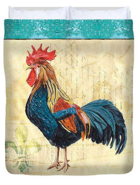 Tiffany Rooster 2 Duvet Cover by Debbie DeWitt