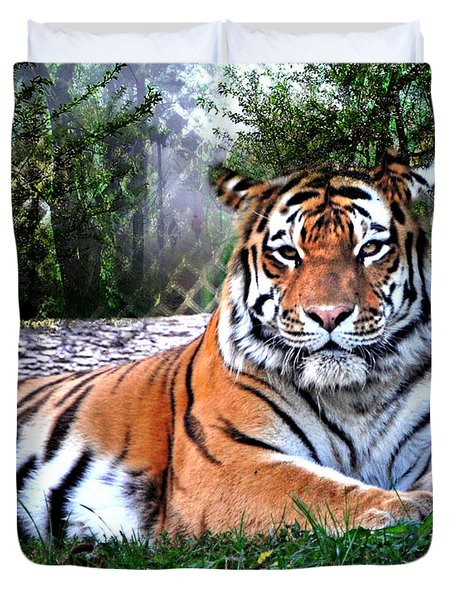 Duvet Cover featuring the photograph Tiger 2 by Marty Koch
