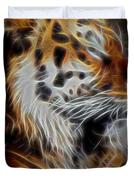 Tiger At Rest Duvet Cover