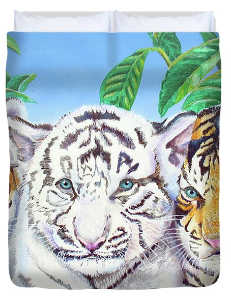 Tiger Cubs Duvet Cover