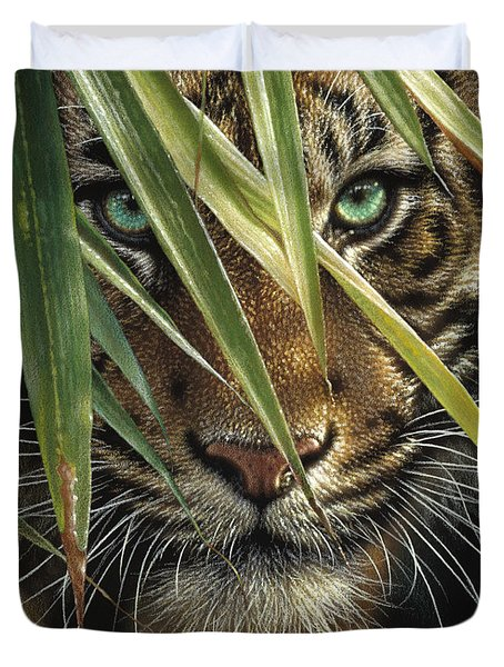 Tiger Eyes Duvet Cover