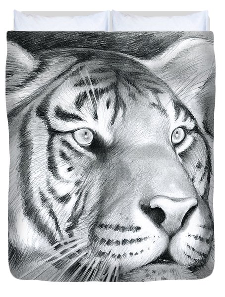 Tiger Duvet Cover by Greg Joens