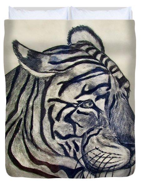Tiger II Duvet Cover by Debbie Portwood