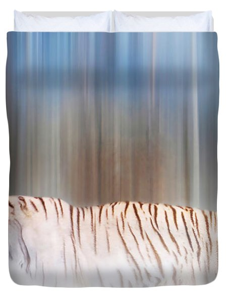 Tiger In The Mist Duvet Cover