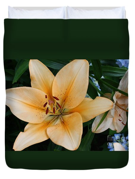 Duvet Cover featuring the photograph Tiger Lily by Dora Sofia Caputo Photographic Art and Design