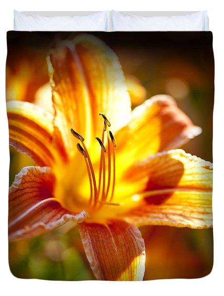 Tiger Lily Flower Duvet Cover by Elena Elisseeva
