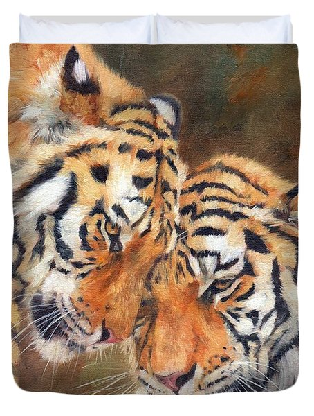 Tiger Love Duvet Cover