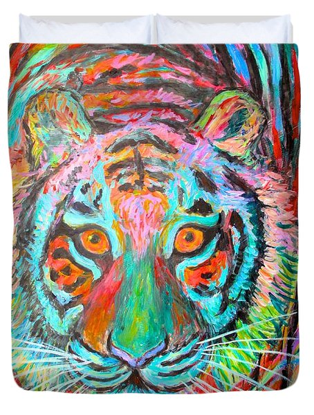 Tiger Stare Duvet Cover