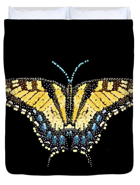 Tiger Swallowtail Butterfly Bedazzled Duvet Cover