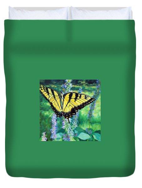 Tiger Swallowtail- Enjoying The Sweetness Duvet Cover