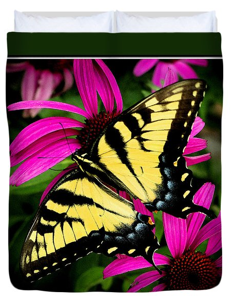 Duvet Cover featuring the photograph Tiger Swallowtail by James C Thomas