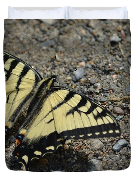 Duvet Cover featuring the photograph Tiger Swallowtail by James Petersen