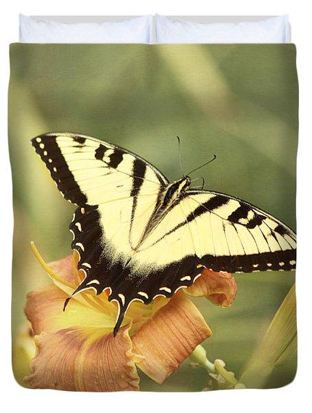 Tiger Swallowtail Duvet Cover by Kim Hojnacki