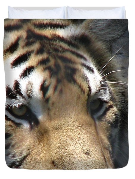 Tiger Water Duvet Cover by Greg Patzer