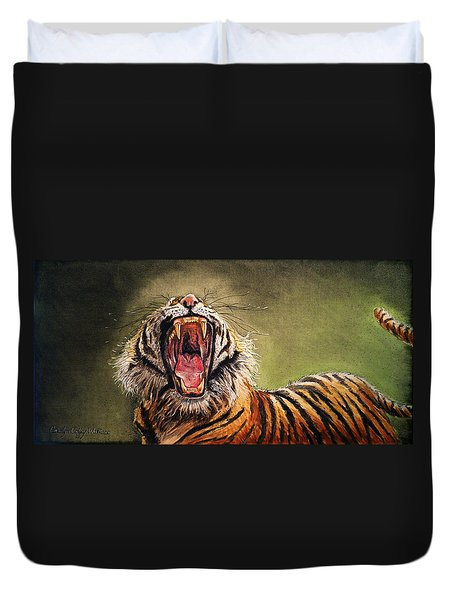 Tiger Yawn Duvet Cover