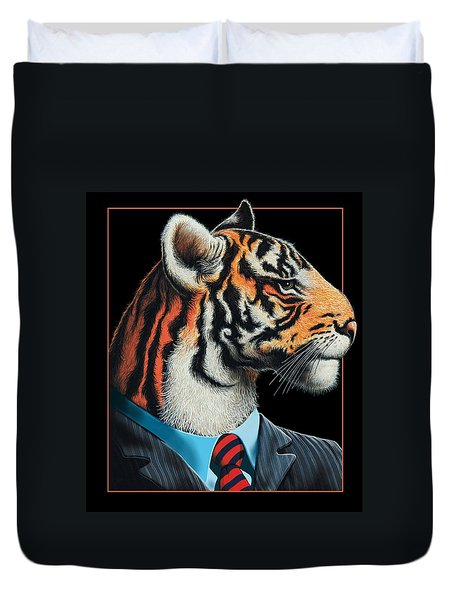 Tigerman Duvet Cover
