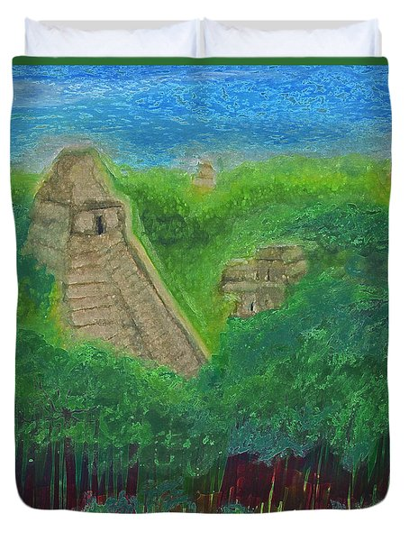 Tikal 2 By Jrr Duvet Cover by First Star Art