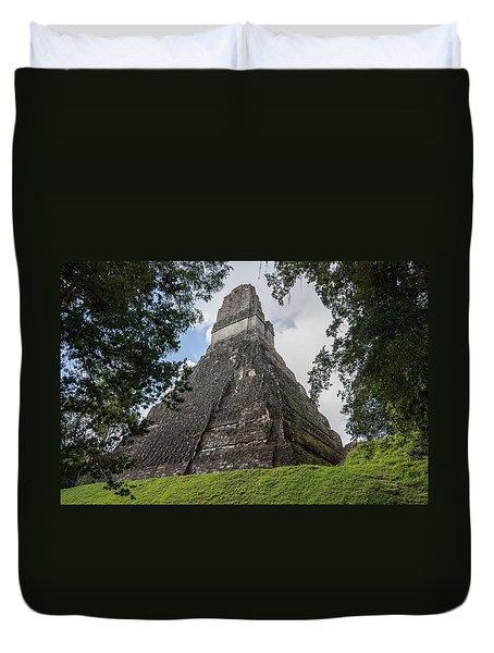 Tikal Pyramid 1b Duvet Cover