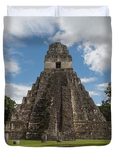 Tikal Pyramid 1j Duvet Cover
