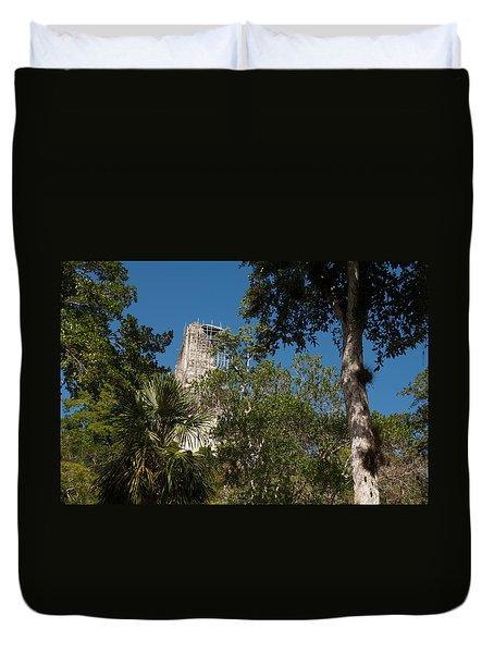 Tikal Pyramid 4a Duvet Cover