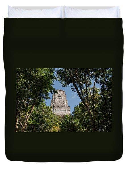 Tikal Pyramid 4b Duvet Cover