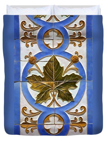 Tile Of Portugal Duvet Cover
