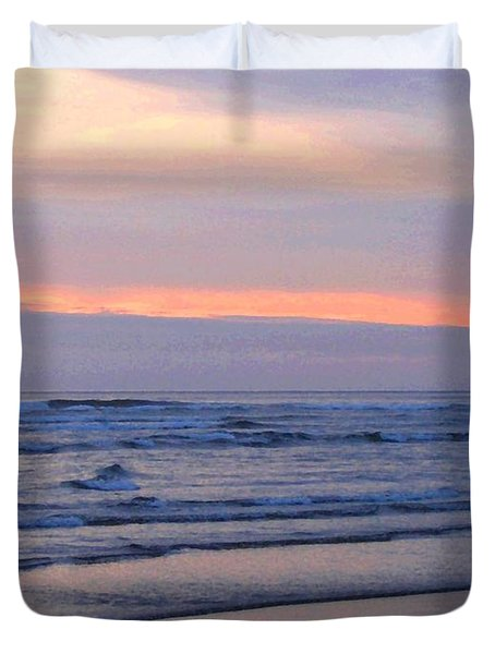 Tillamook Lighthouse Painting Duvet Cover