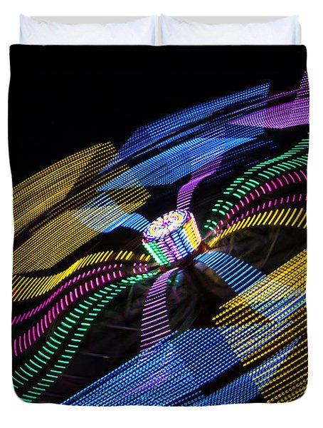 Duvet Cover featuring the photograph Tilt A Whirl by Steven Bateson