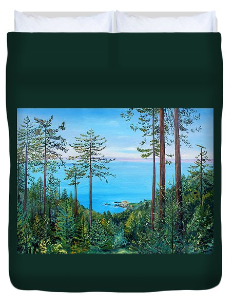 Timber Cove On A Still Summer Day Duvet Cover