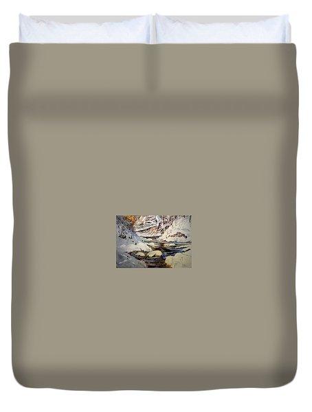 Timber Creek Winter Duvet Cover by Joseph Barani