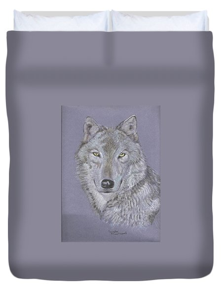 Timber Wolf Portrait Duvet Cover
