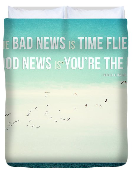 Time Flies Duvet Cover by Lisa Russo