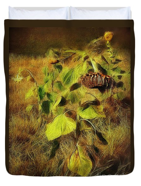 Duvet Cover featuring the digital art Time Is The Enemy by Rhonda Strickland