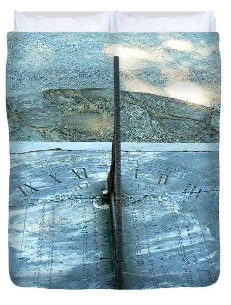 Time Keeps On Ticking Duvet Cover by Michael Porchik