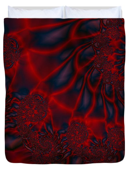 Duvet Cover featuring the digital art Time Slide by Elizabeth McTaggart