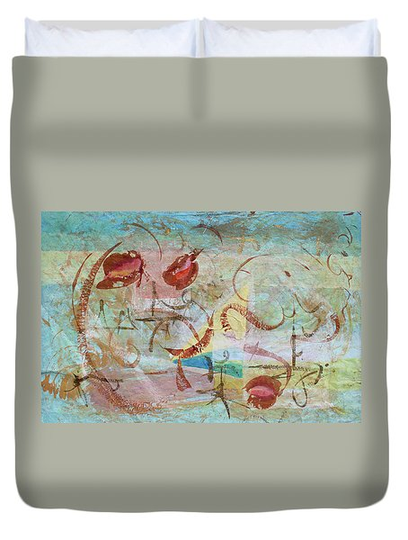 Duvet Cover featuring the painting Time Softened Memory by Asha Carolyn Young