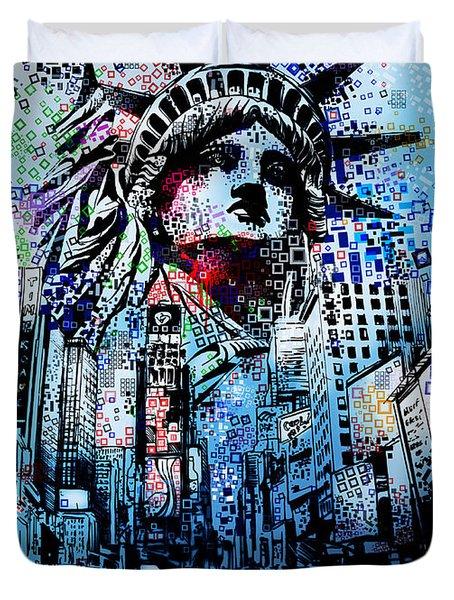 Times Square 2 Duvet Cover
