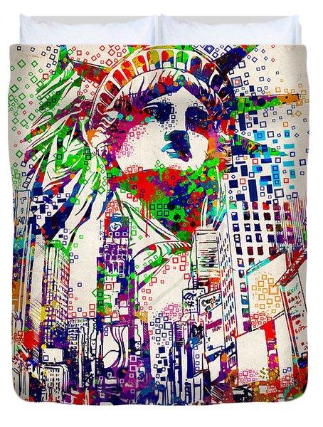 Times Square 3 Duvet Cover