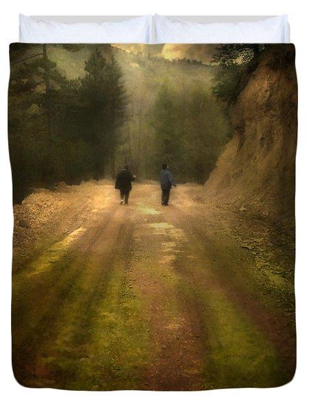 Time Stand Still Duvet Cover by Taylan Apukovska