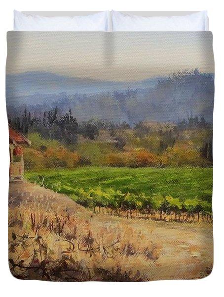 Time To Harvest Duvet Cover by Karen Ilari