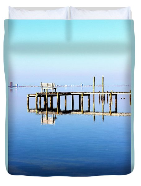 Time To Reflect Duvet Cover by Faith Williams