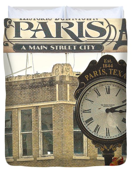 Time To Visit Paris Duvet Cover by Dee Dee  Whittle