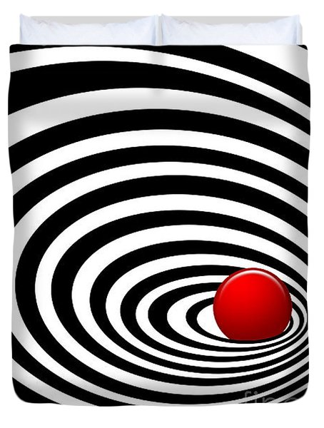 Time Tunnel Op Art Duvet Cover