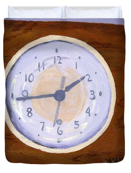 Duvet Cover featuring the painting Time Will Tell by Lynne Reichhart